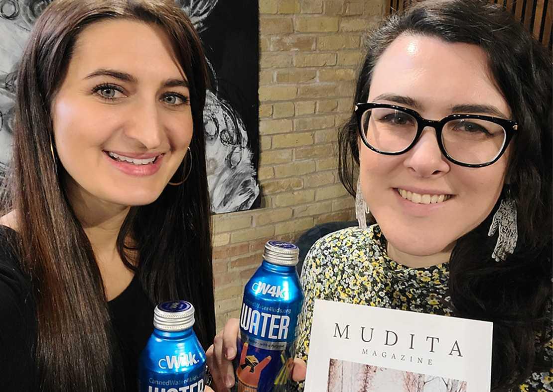 Mudita Magazine Pledges donation to CannedWater4kids (CW4K)