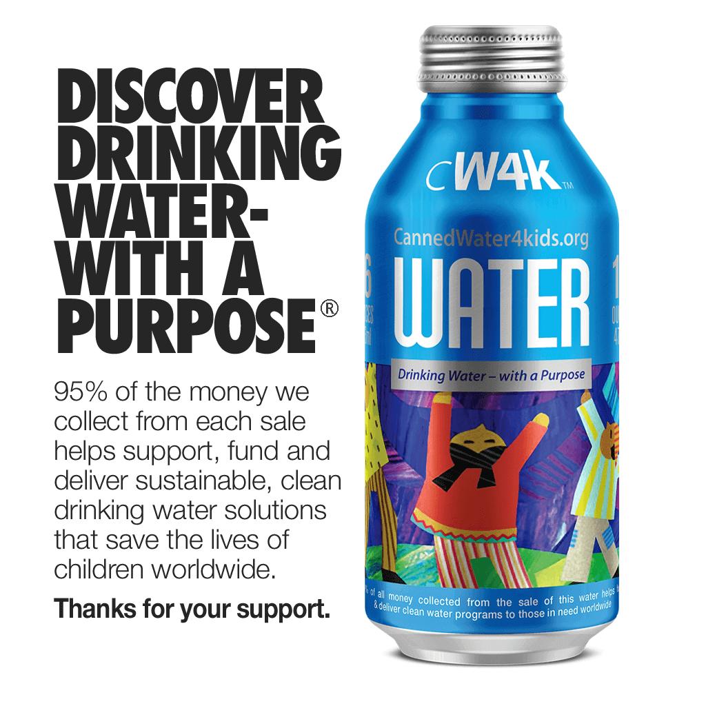 CW4K Premium Water in 16-oz Aluminum Bottles